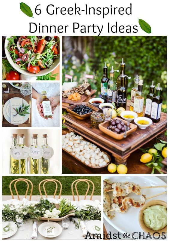Food Greek Inspired Dinner Party Ideas