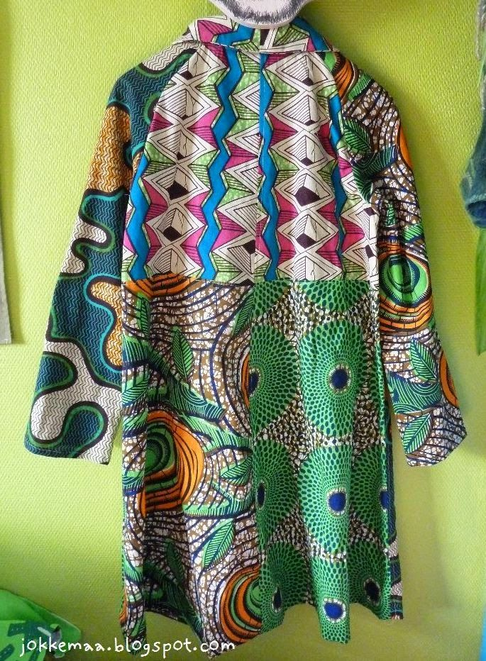 Jacket made of large quilts
