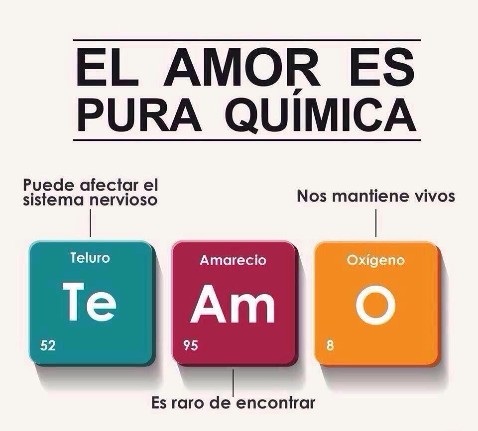 El amor es la química perfecta.