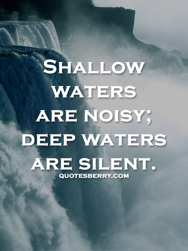 Water Quotes Magnificent Httpquotesberrypost114309288827Shallowwatersarenoisy . Inspiration Design