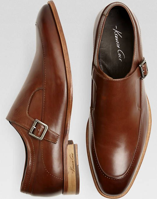 198108b8b350 Kenneth Cole T-Rack Record Tan Monk Strap Dress Shoes - Dress Shoes ...