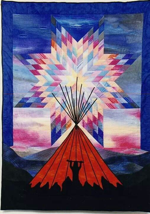 Star Quilt With Teepee Holy Smokes This Is Easily One Of