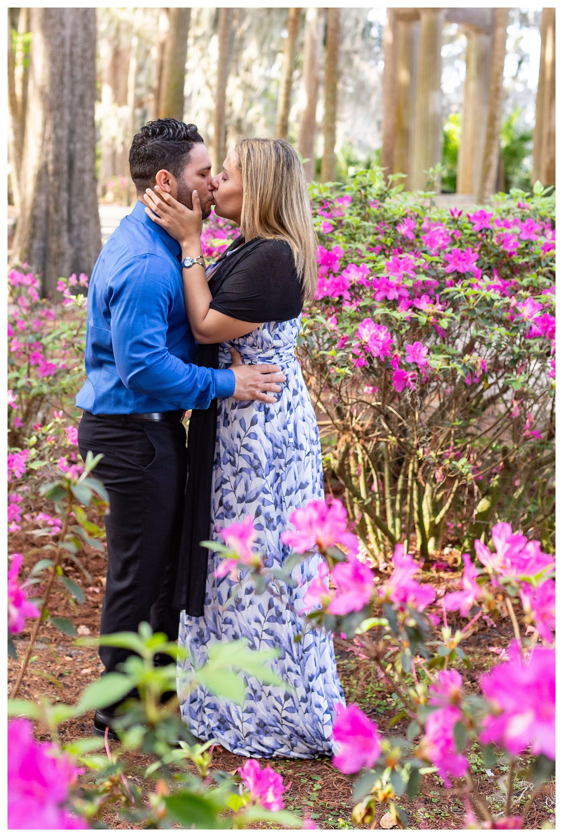 Engagement Session at Kraft Azalea Gardens in Winter Park