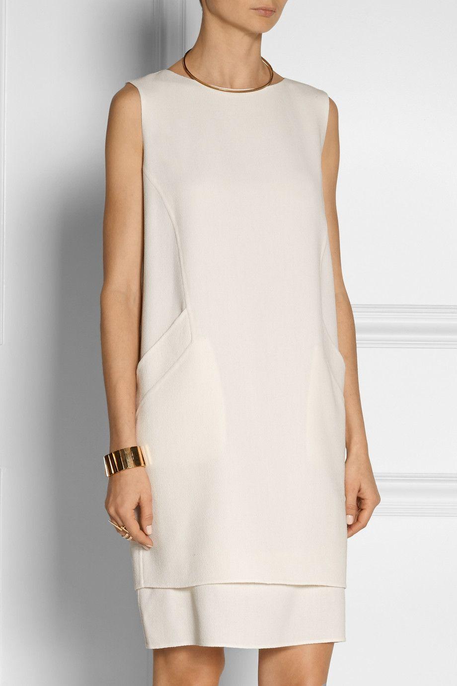 Oscar de la Renta | Wool-crepe shift dress | NET-A-PORTER.COM