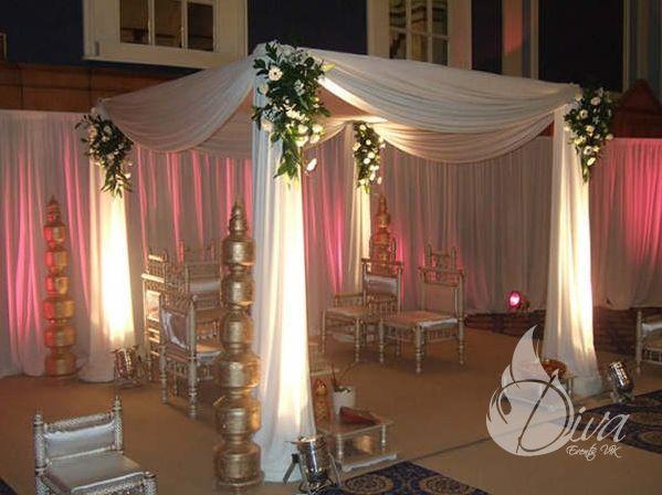 Floral Drape Mandaps Hire Indian Wedding Packages Leicester Mandap Decor Wedding Reception Backdrop Mandap