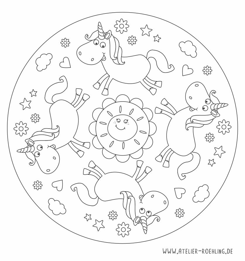 Mandala Einhorn On Behance Mandala Kids Rugs Color