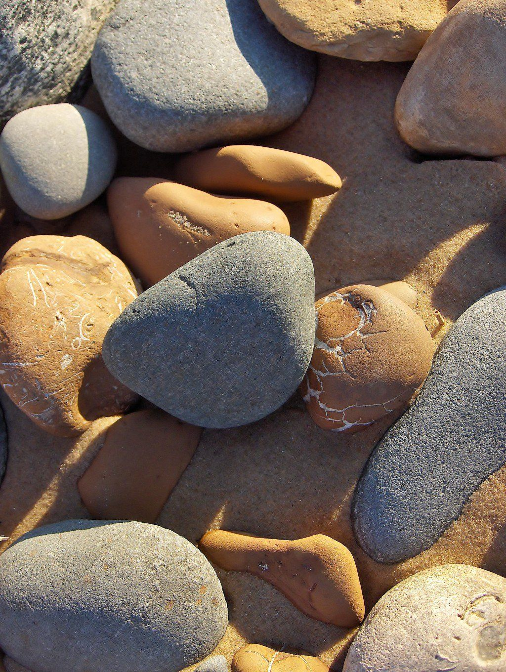 Beach stones and sand formations a michigan rock hounds