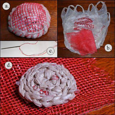 Free Crochet Pattern For A Plarn Dish Scrubbie Crochet Scrubbies