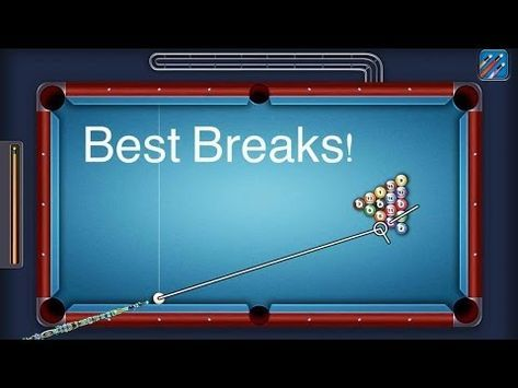 8 Ball Pool Best Breaks 9 Breaks Youtube Pool Balls Bumper Pool 8ball Pool