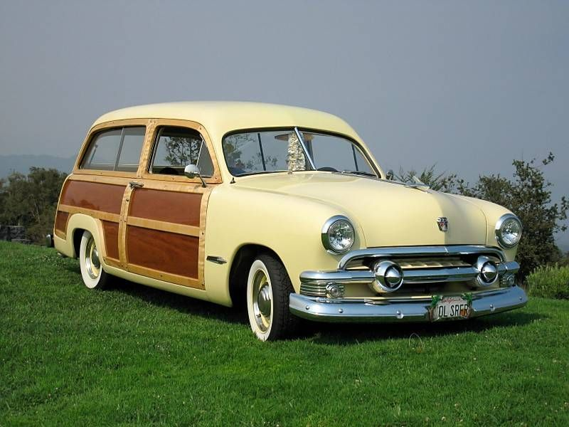 1951 Ford Deluxe Wagon Classic Cars Vintage Old American Cars Woody Wagon
