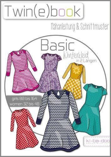 Twin(e)book Basic Winterkleid - Schnittmuster und Anleitung als PDF ...
