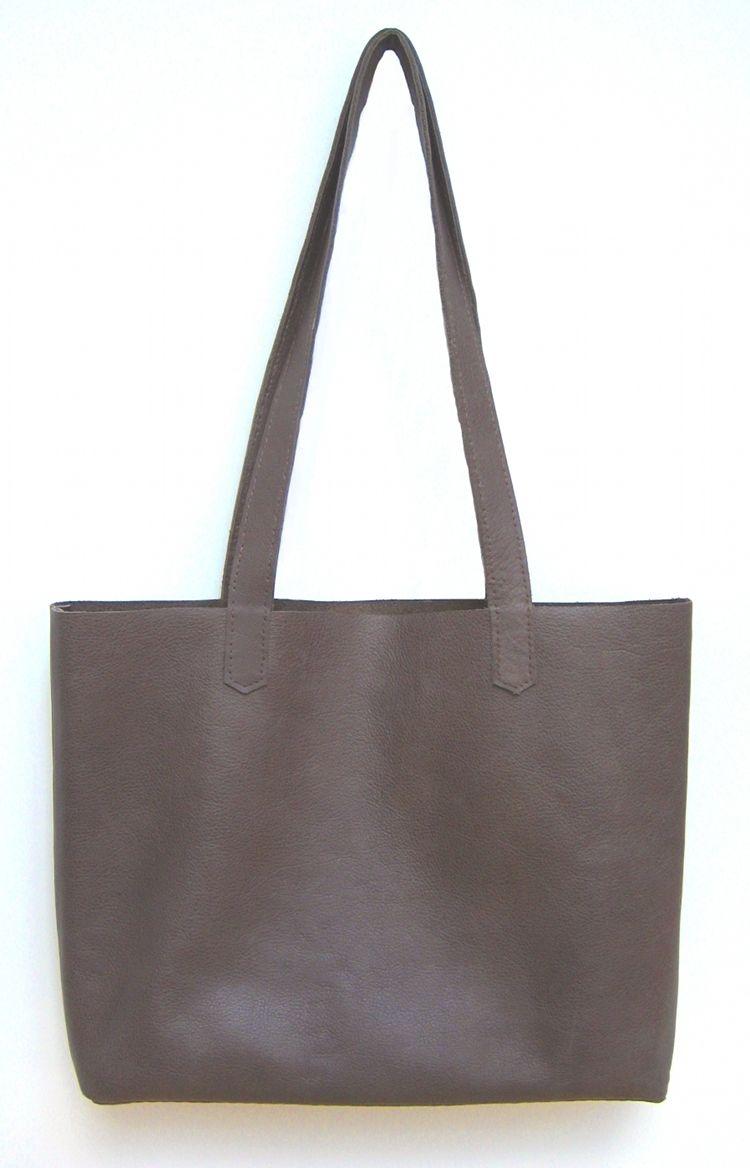 Simple Leather Tote Bag | Leder, Kinderpullover und Nähen