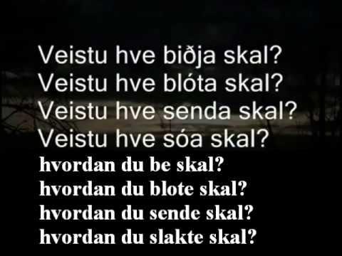 Hávamál - Lest av Sveinbjörn Beinteinsson | jumps around a lot... beautiful sound but he skips from verses 6 to 44 to 46 etc.....