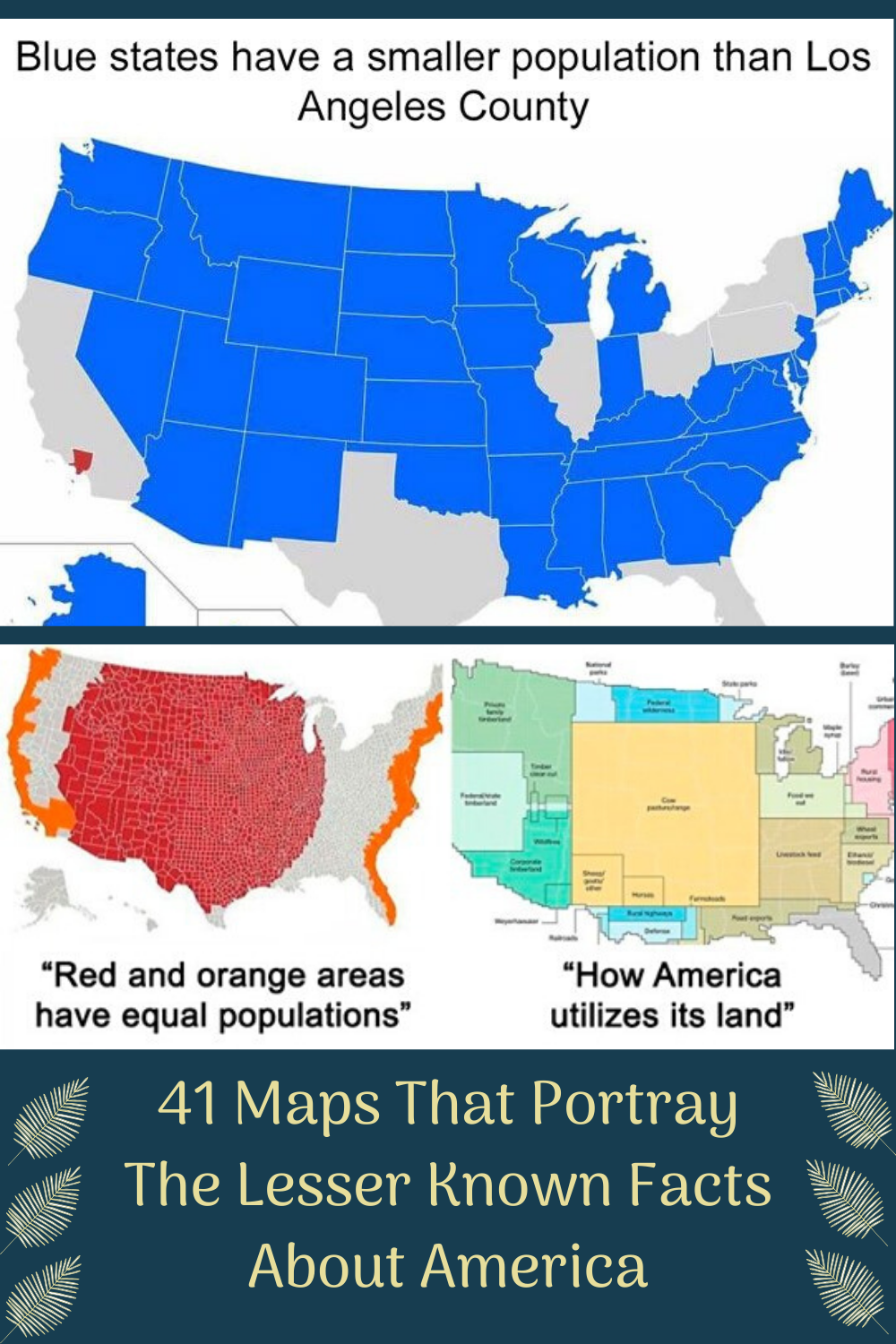 41 Maps That Portray The Lesser Known Facts About America In 2020 Facts About America Facts Map