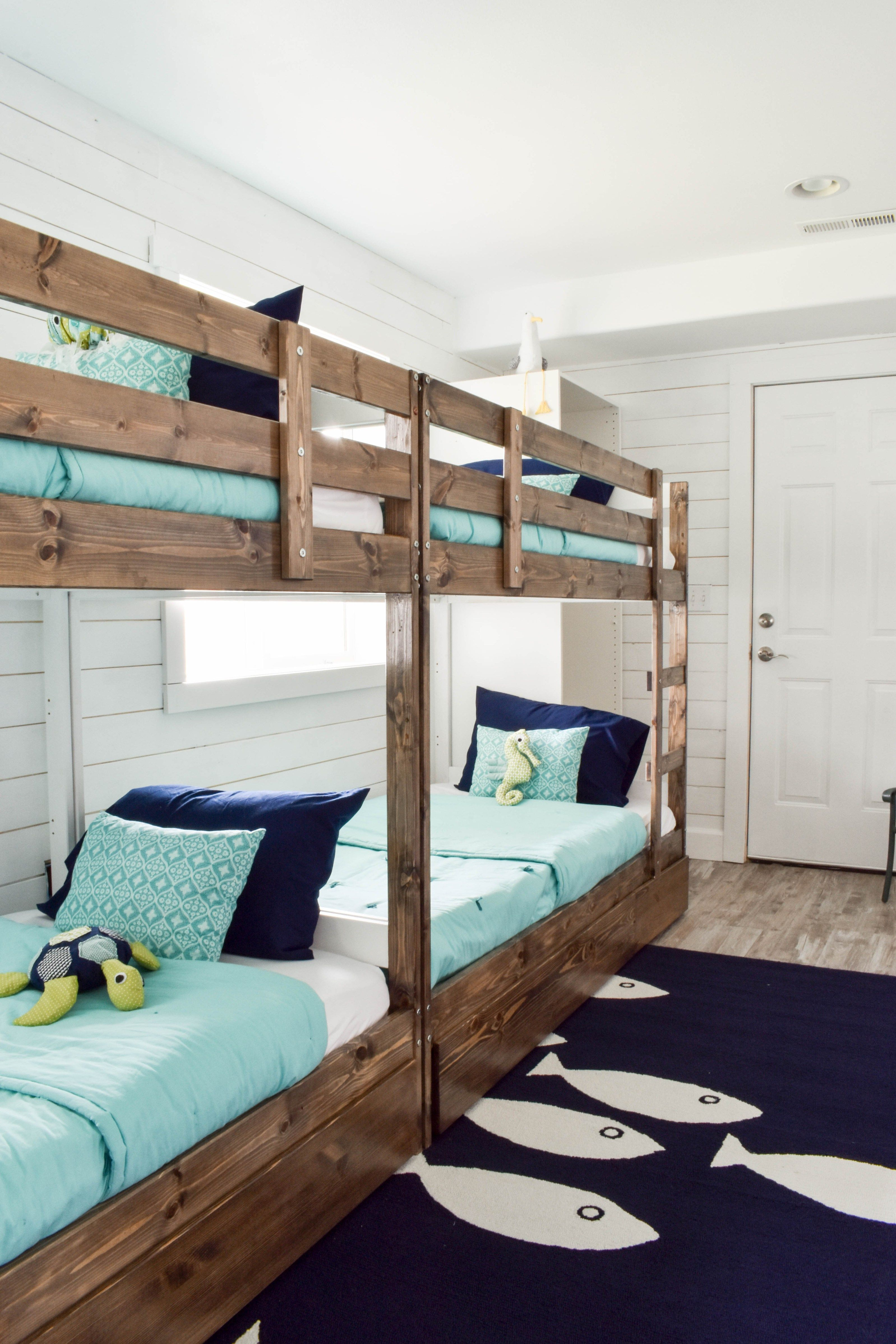 Beach House Bunk Room Reveal Makin College Homey Bunk
