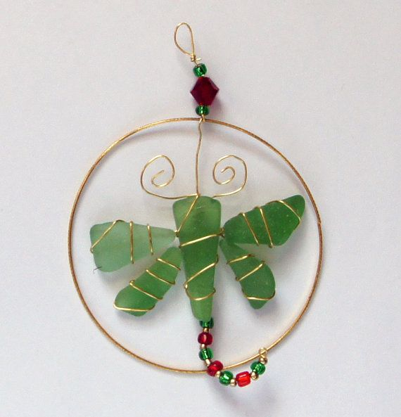 Sea Glass Christmas Ornament or Suncatcher with by oceansbounty, $12.00