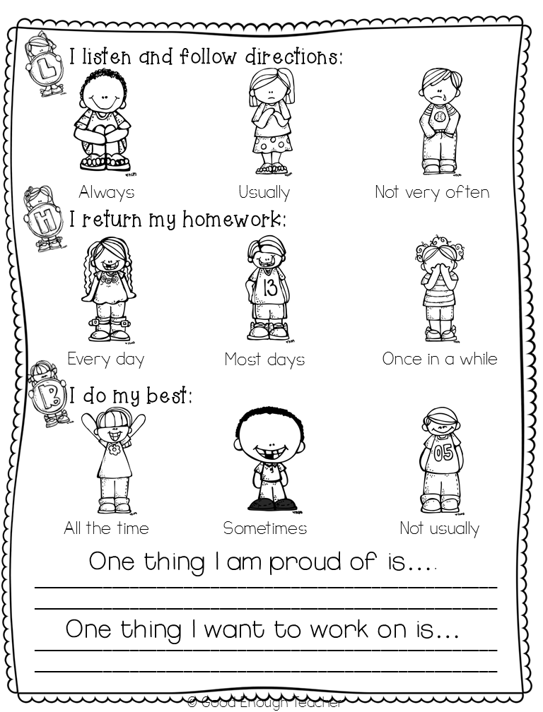 My Own Report Card Freebie  For ParentTeacher Interviews