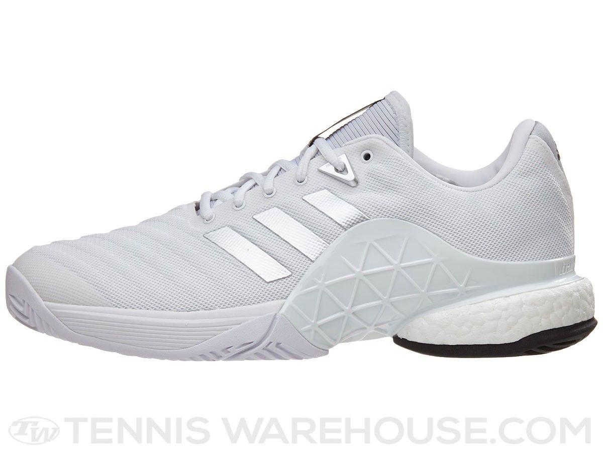 check out 22e20 b833c adidas Barricade 2018 Boost WhiteSilver Mens Shoes