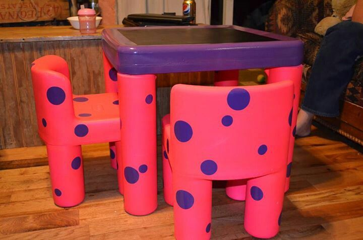 Upcycled Little Tikes Table And Chairs Using Plastic Spray Paint