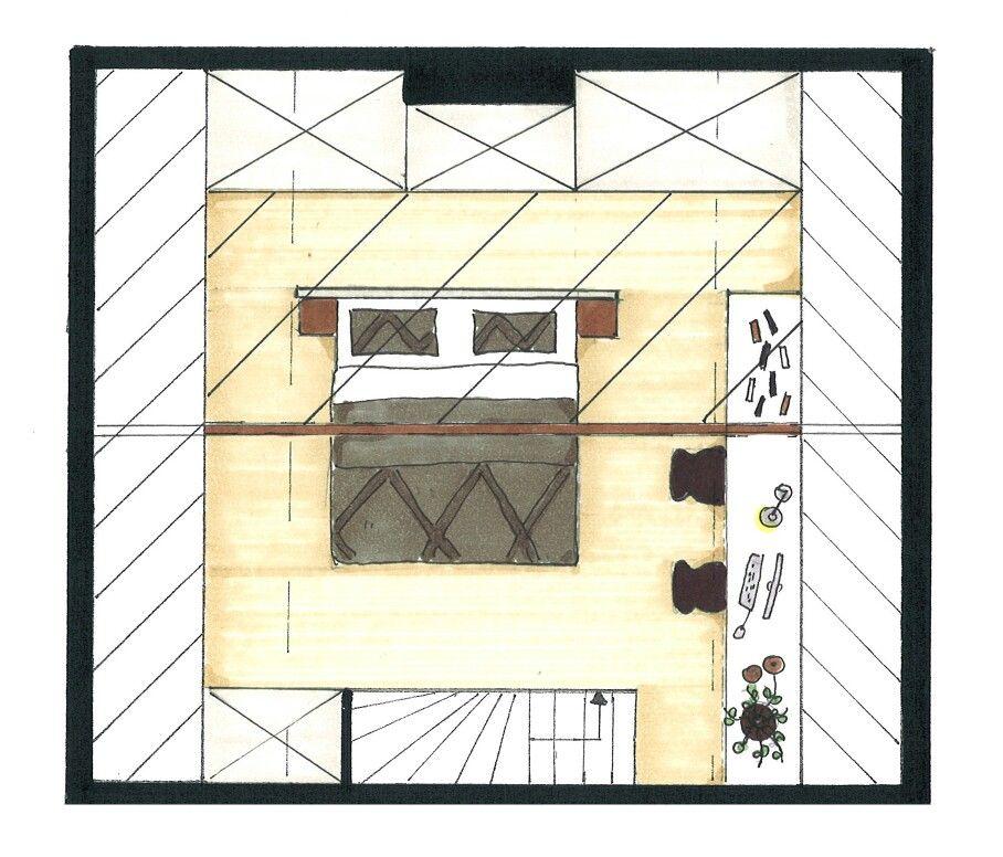 Plattegrond slaapkamer zolder. / Binnenkijken Interieuradvies ...