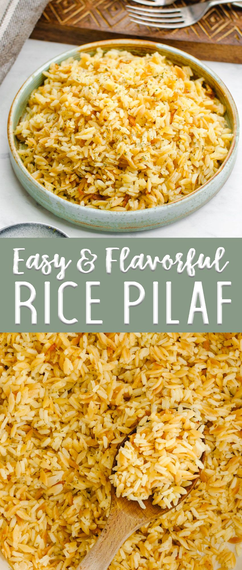 Easy Rice Pilaf Recipe Rice Side Dishes Side Dishes Easy