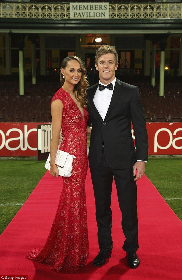 The AFL Brownlow Medal\'s \'WAGs to watch\' | Red lace gown, Brunette ...