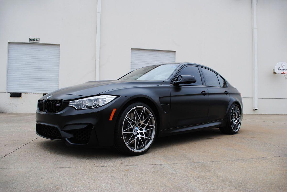 Bmw M3 Satin Black Color Change Wrap Car Wrap City Bmw Auto Body Shop Bmw Black