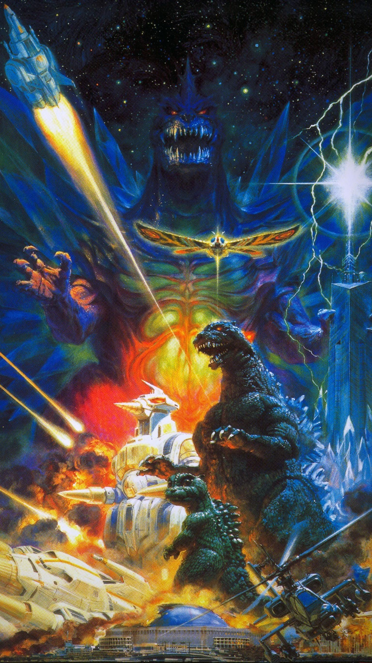 Godzilla vs. SpaceGodzilla (1994) Phone Wallpaper | Godzilla | Original godzilla, Godzilla vs ...