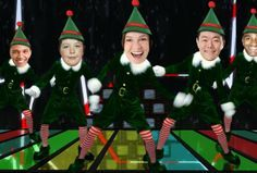 Family Face In Hole Cutouts Make A Funny Video With Your Faces Dancing As Elfs With Christmas Elf Yourself Christmas Elf
