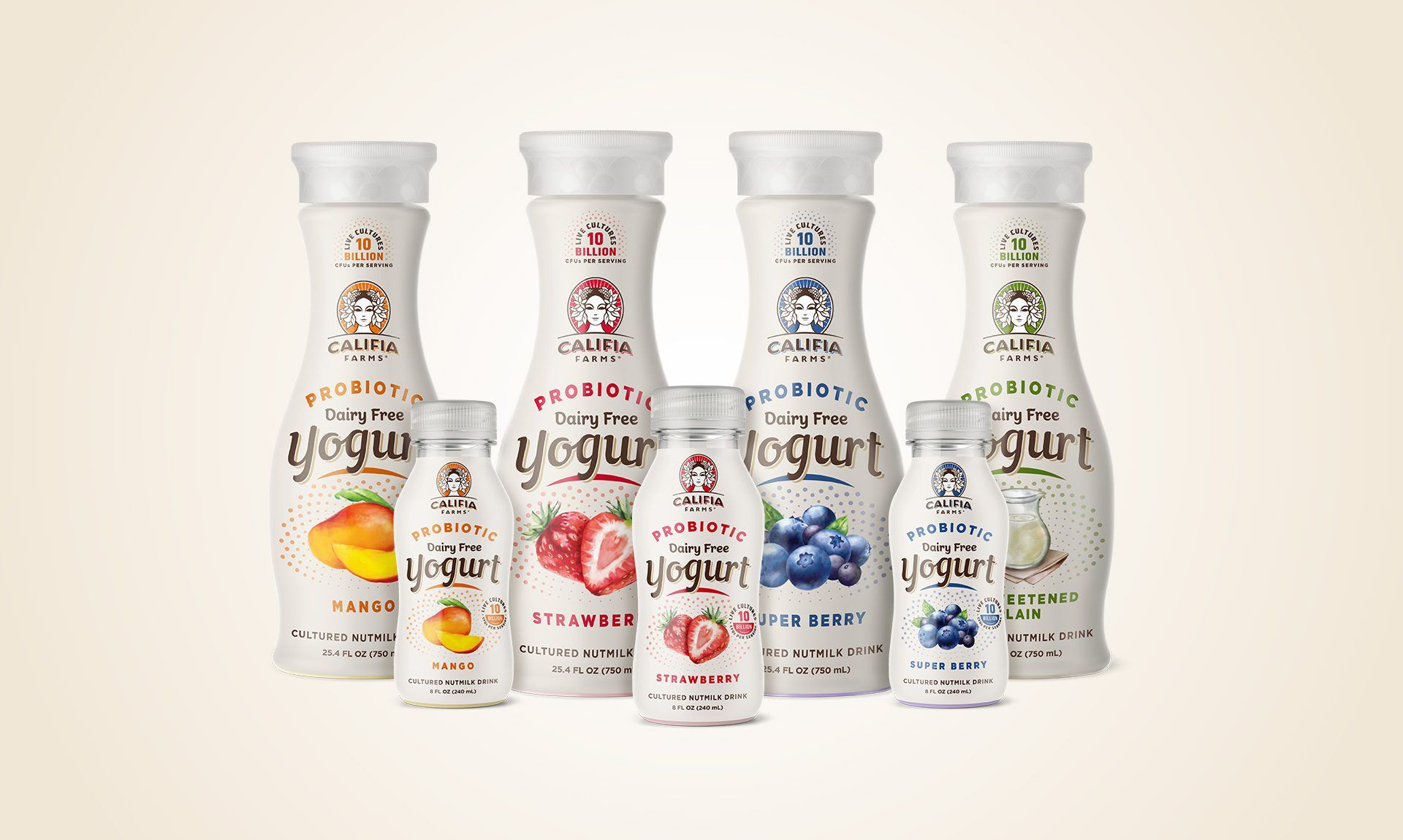 Califia Probiotic Yogurts Packaging Design