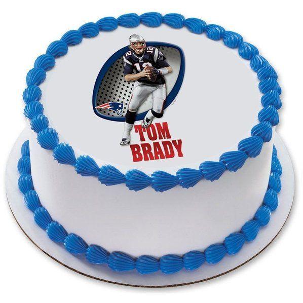 Check Out Nfl New England Patriots Tom Brady 75 Round Edible Cake