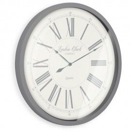 Stunning Grey Wall Clock The Heritage Wall Clock 100cm Grey Wall Clocks Wall Clock Clock