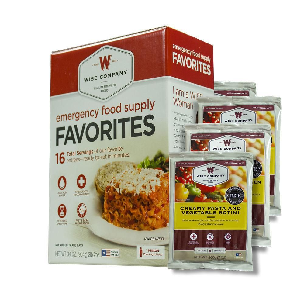 Wise Food Storage Reviews Wise Food Company Emergency Survival Freeze Dried Food Sample  Wise
