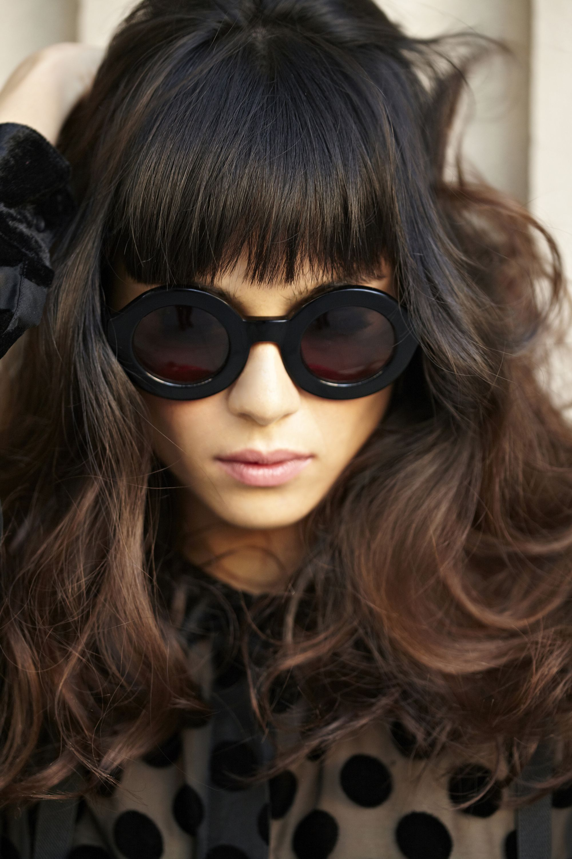 Dark brown with balayage and bangs hair pinterest hair styles