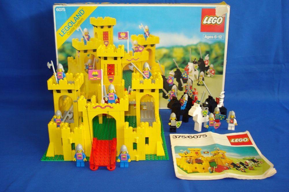Vintage Lego Castle 375 6075 W Box Instructions Lego Lego