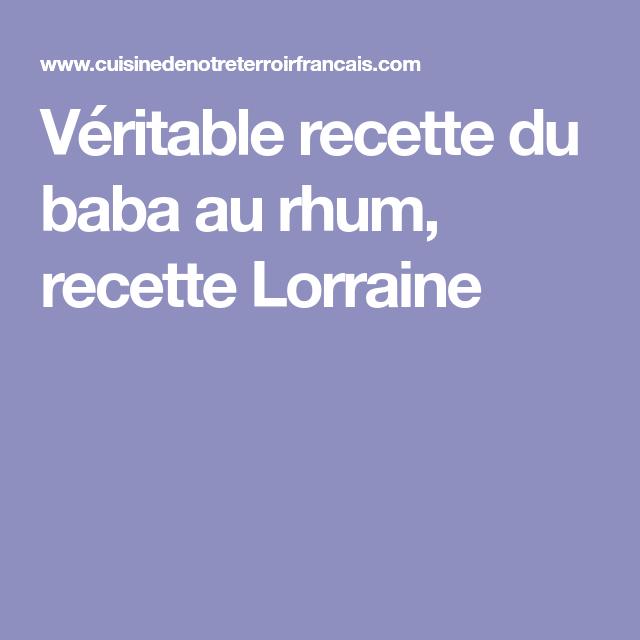 Véritable recette du baba au rhum, recette Lorraine #babaaurhumrecette