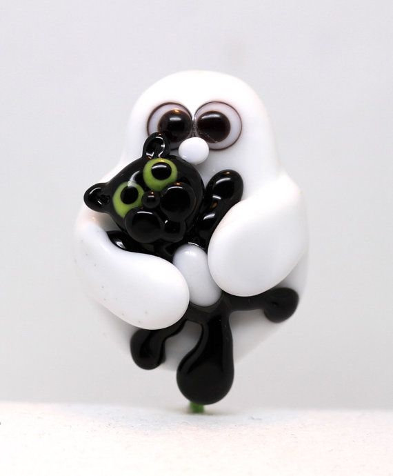 Made to order Margo lampwork beads halloween by margolampwork, $28.00