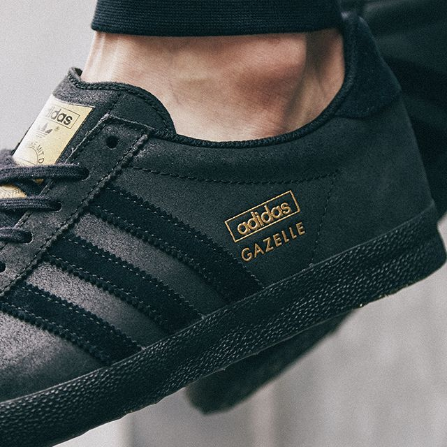 premium selection b42ef c90ac The triple black Gazelle from adidas Originals is available at scotts  Menswear