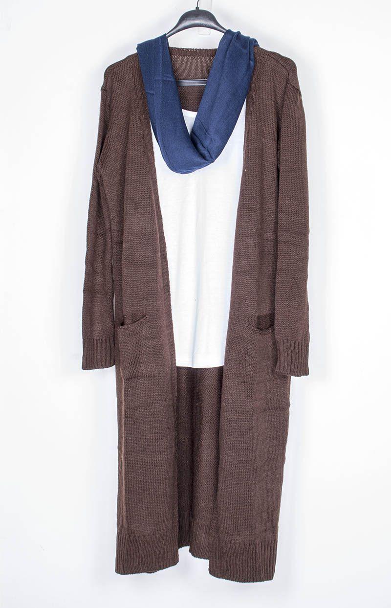 6773b5b140 Hosszú kötött kardigán: 4500.- Kendő: 1490.- | Women | Sweaters, Fashion