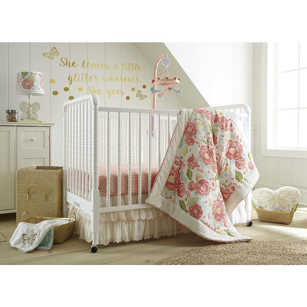 Crib for twins babies r us - Levtex Baby Charlotte 5 Piece Crib Bedding Set