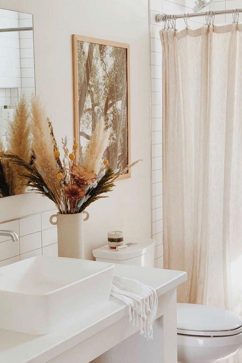 Simple Dried Flower Arrangement For Bathroom Decor Bathroom Flowers Fall Bathroom Decor Simple Bathroom Decor