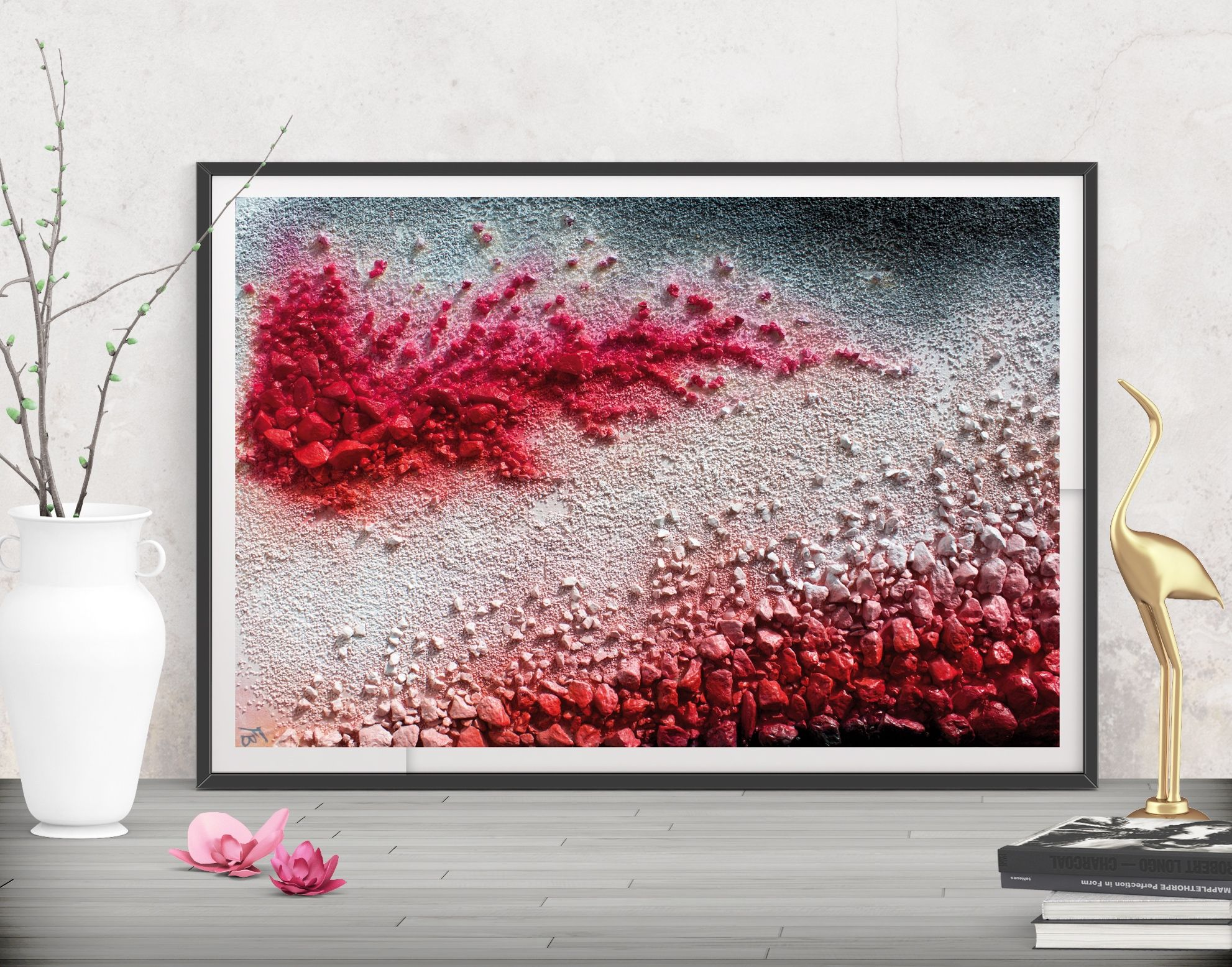 Digital Download Red Modern Painting, Abstracts Printable Wall Art, Modern  Art Livingroom Wall Decor, Wall Sculpture Large Poster Decor