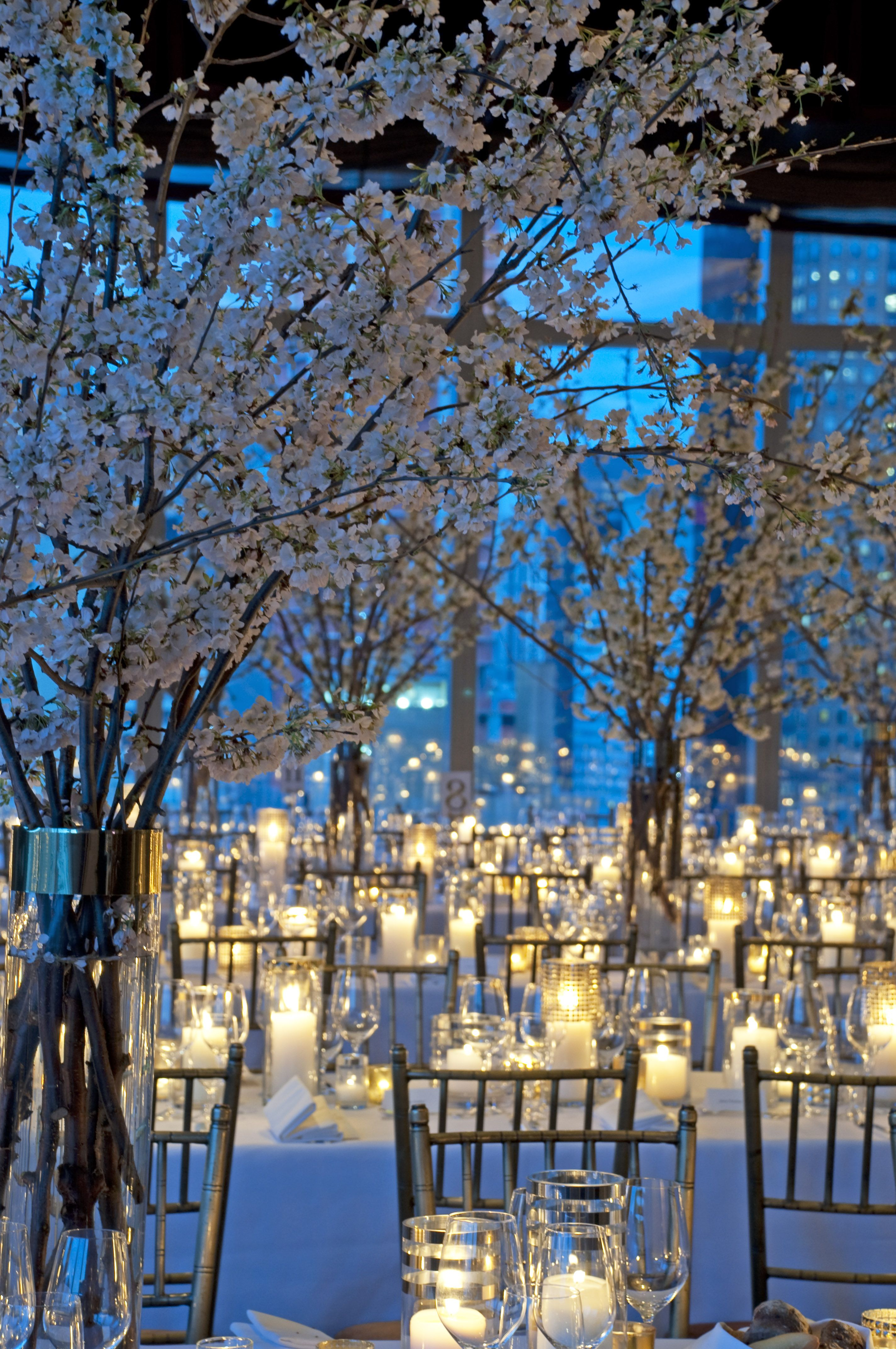 Winter Wonderland Delight Flowering Branches And Lots Of Candlelight Make F With Images Wonderland Wedding Theme Winter Wonderland Wedding Theme Winter Wonderland Wedding