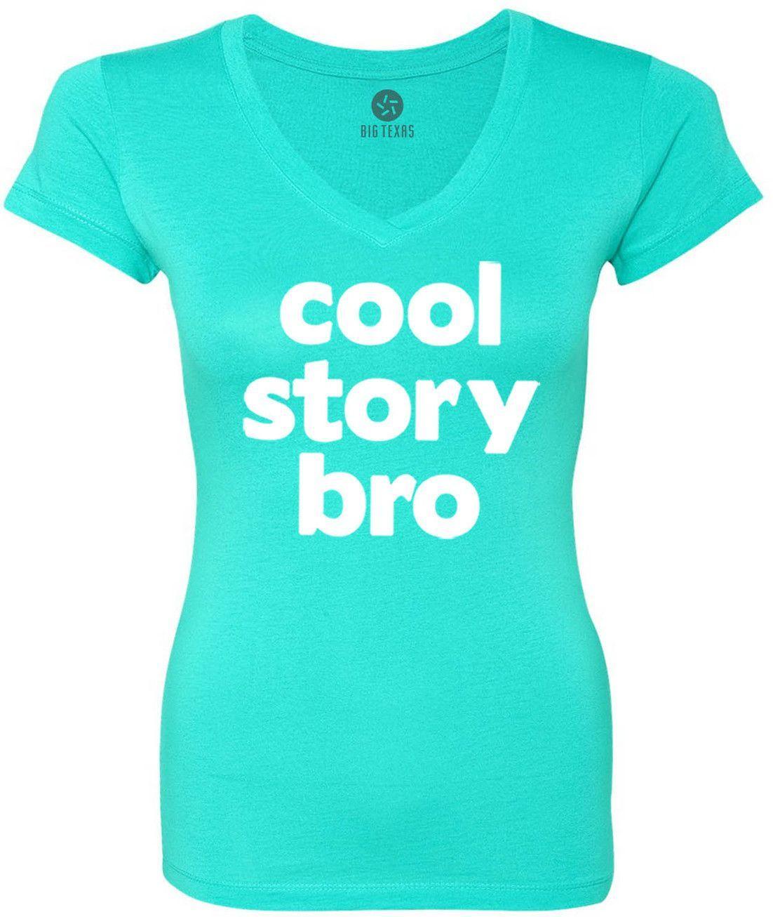 Cool Story Bro (White) Women's Short-Sleeve V-Neck T-Shirt