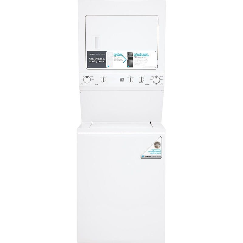 "Kenmore - 61712 - High Efficiency 27"" Super Capacity 3.8 cu. ft. Electric Laundry Center - White 