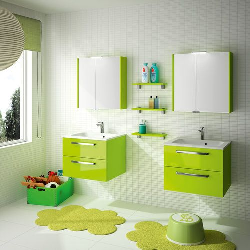 meuble de salle de bain cedam gamme strella 2 color e laqu e id al pour jeune habitat. Black Bedroom Furniture Sets. Home Design Ideas