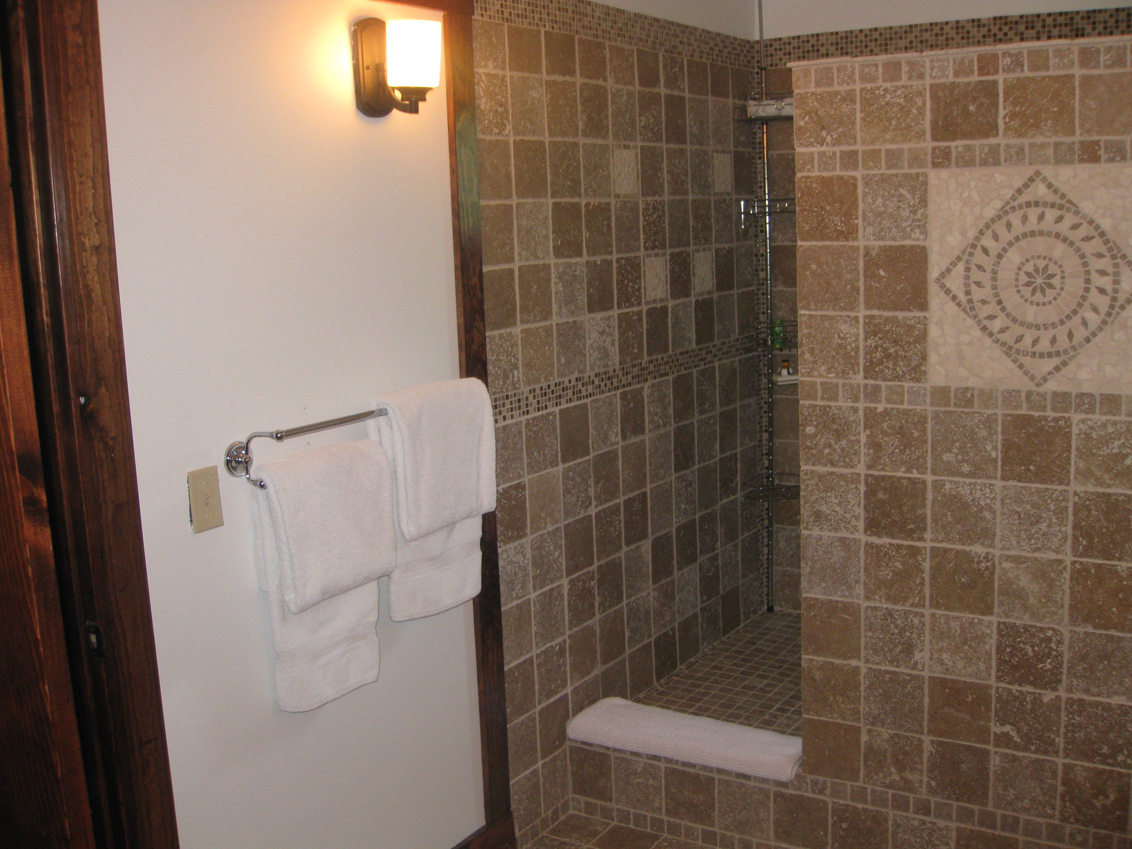 New for 2012 - The Wood Violet Room. A large walk-in shower stall of ...