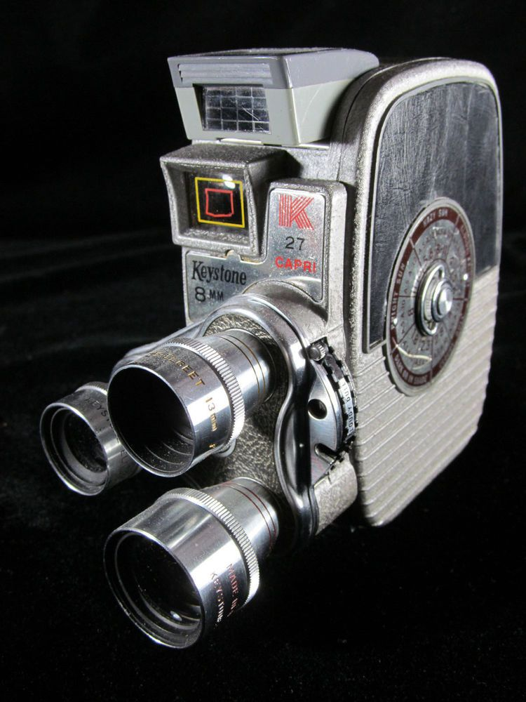 Vintage 8mm 1950's Keystone Capri K 27 Movie Camera With