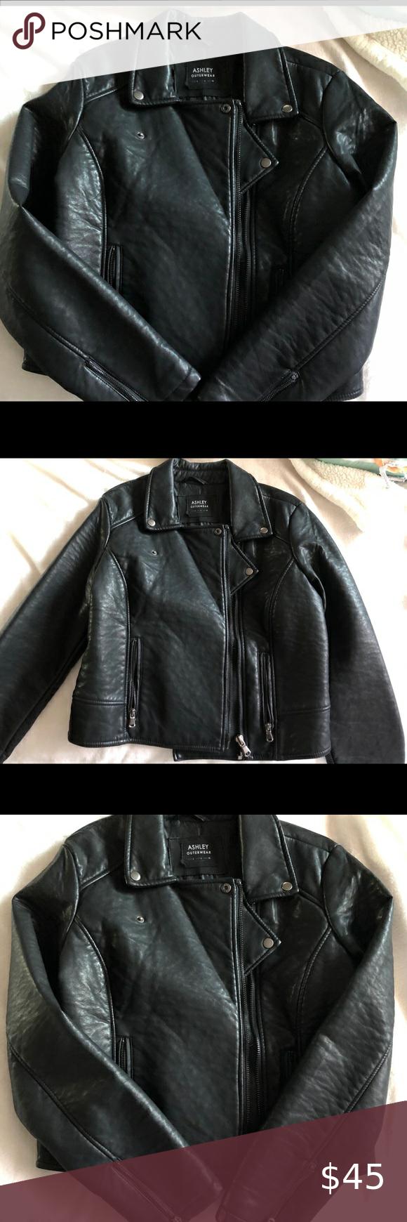 Black Faux Leather Jacket Warm And Stylist Black Faux Leather Jacket Received It As A Gift And O Black Faux Leather Jacket Faux Leather Jackets Leather Jacket [ 1740 x 580 Pixel ]