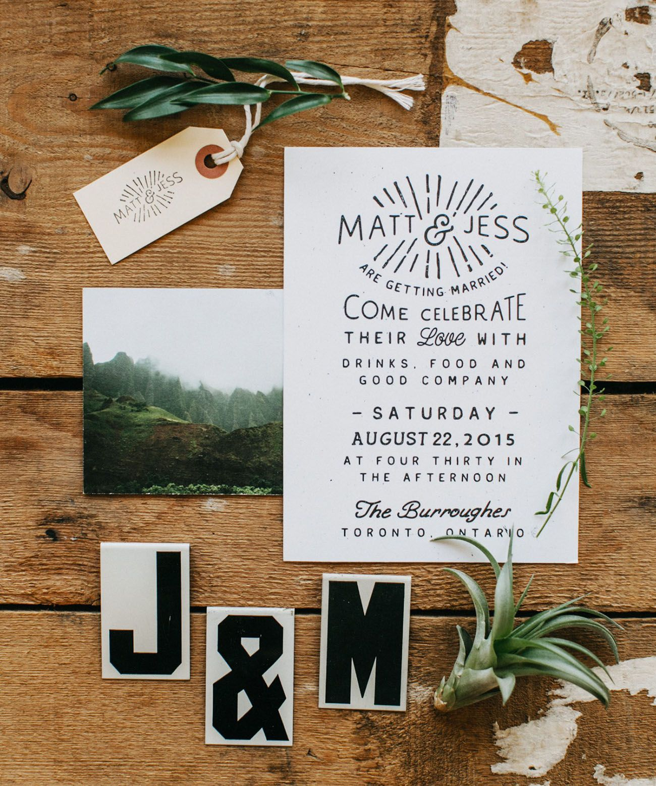 Handmade bohemian toronto wedding jess matt part 2 modern a super modern cool black and white invitation is pretty easy on the eyes stopboris Images